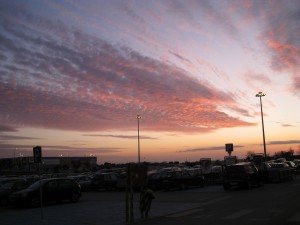 Sunset over Algarve Shopping, Guia