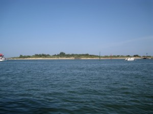 Approaching Isla de Tavira