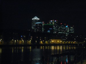 London by Night, returning from dinner with friends