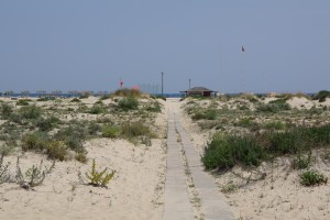 Approaching Ilha de Tavira Beach