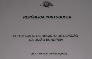 Portuguese EU Residency Document