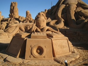 Sand sculptures in Portugal