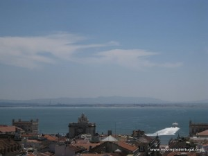 Looking over the Tagus from Lisbon