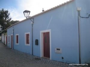The pretty blue house