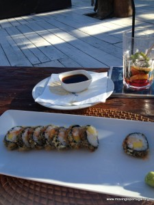 Summer in Portugal - hot sushi and sangria by the sea