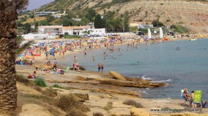 Praia da Luz in the peak of summer
