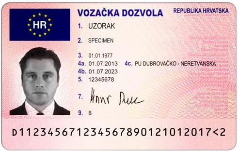 A Driving licence - The EU flag is meaningless