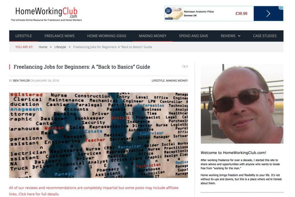Finding online work