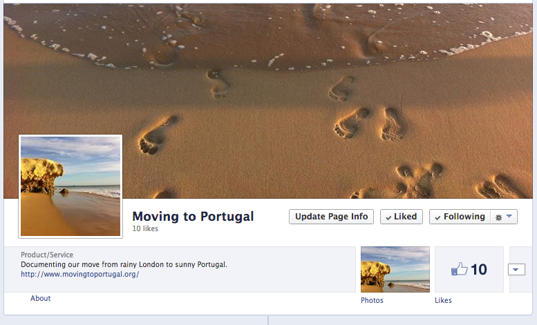 Moving to Portugal now on Facebook!